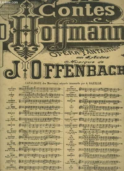 LES CONTES D'HOFFMANN - N° 13 : BARCAROLLES POUR PIANO ET CHANT A 2 VOIX.