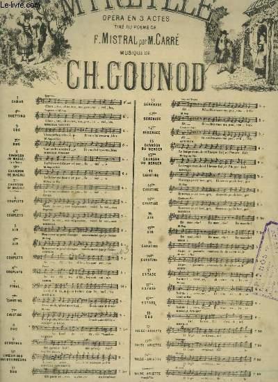 MIREILLE N°5 BIS : PIANO ET CHANT.