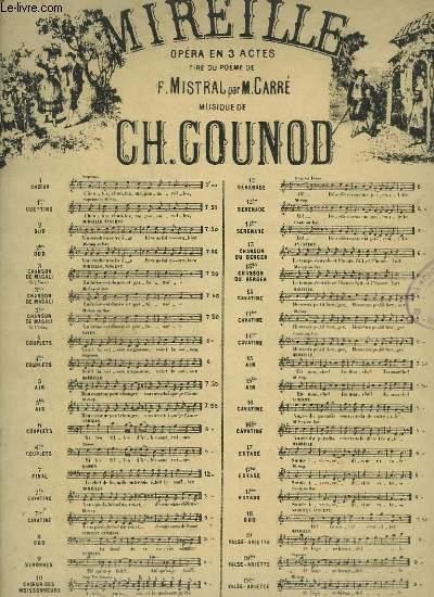 MIREILLE N°3 BIS : CHANSON DE MAGALI - PIANO + CHANT A 2 VOIX.