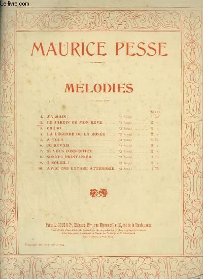 LE JARDIN DE MON REVE - PIANO ET CHANT.