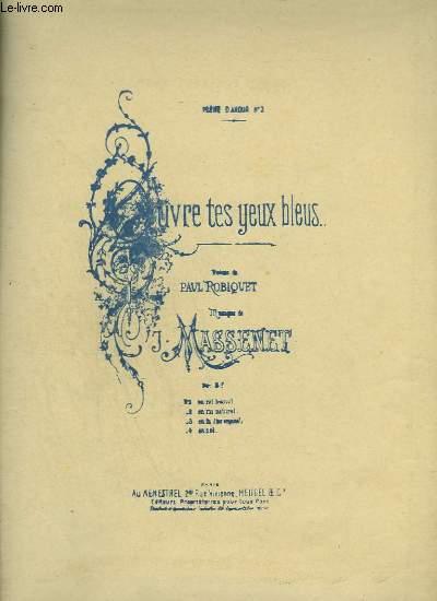 OUVRE TES YEUX BLEUS - PIANO ET CHANT EN LA - TON ORIGINAL.