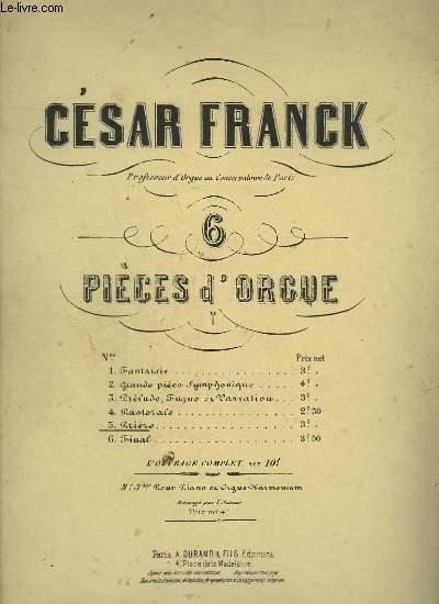 PRIERE - PIECE POUR ORGUE N°5.