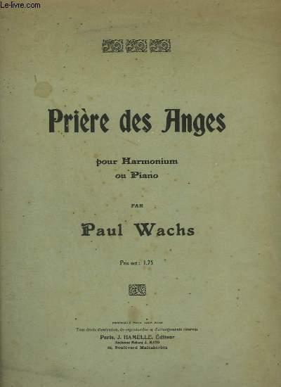 PRIERE DES ANGES - POUR HARMONIUM OU PIANO.