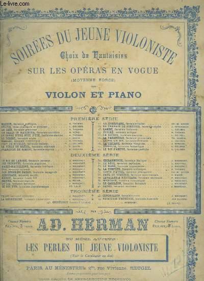 SOIREES DU JEUNE VIOLONISTE - N°38 : WETHER POUR PIANO ET VIOLON.