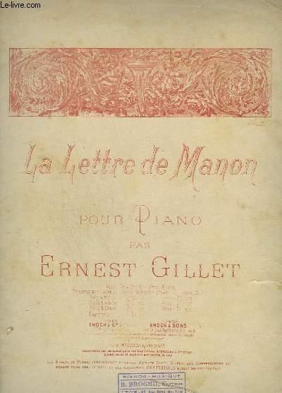 LA LETTRE DE MANON - POUR PIANO.