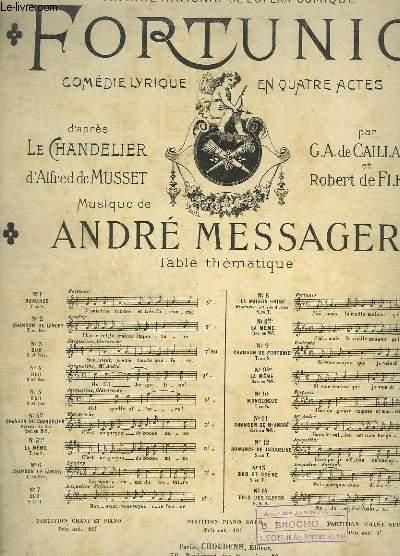 FORTUNIO - N°8 BIS : LA MAISON GRISE - PIANO ET CHANT.