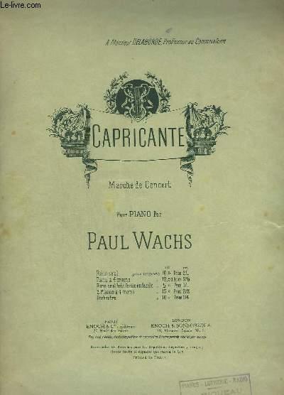 CAPRICANTE - POUR PIANO.