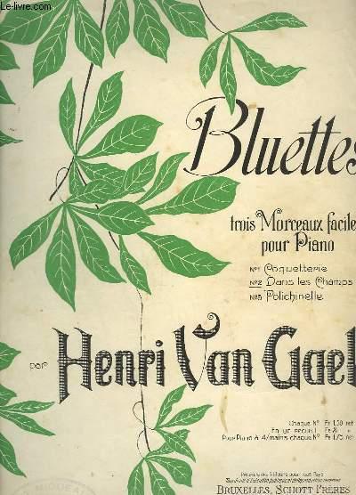BLUETTES - N°2 : DANS LES CHAMPS - MORCEAUX FACILE POUR PIANO.