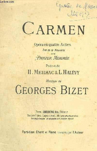 CARMEN - OPERA EN 4 ACTES - 27 OUVERTURES.