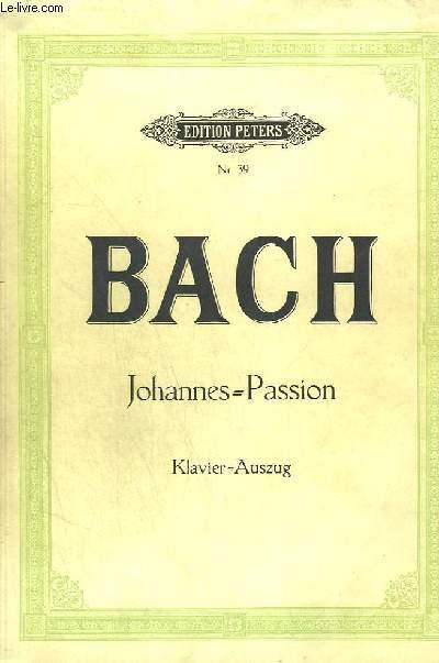 JOHANNES PASSION - N°39 : KLAVIER - AUSZUG.