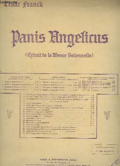 PANIS ANGELICUS - POUR CHOEUR A 2 VOIX EGALES + VIOLON + ORGUE.