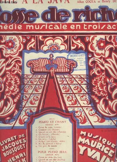 L'INVITE A LA JAVA - PIANO ET CHANT - GOSSE DE RICHE N°5.
