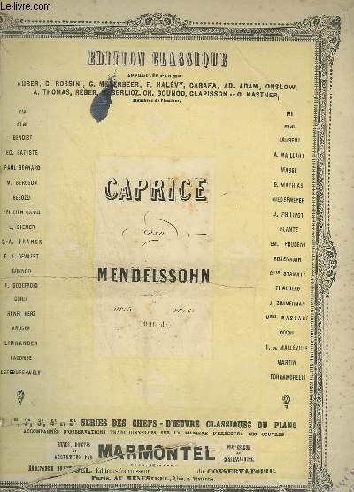 CAPRICE DIFFICILE OP.5.
