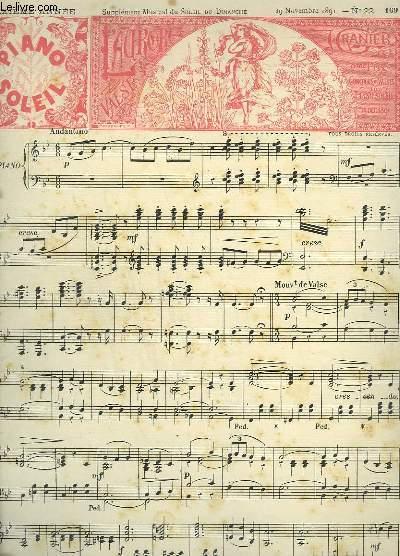 PIANO SOLEIL - SIXIEME ANNEE N°22 : L'AURORE + MEDITATION - VALSE POUR PIANO.