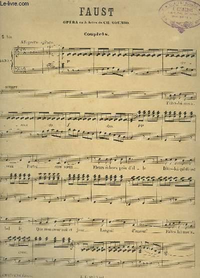 FAUST - OPERA EN 5 ACTES N°4 BIS : PIANO ET CHANT.