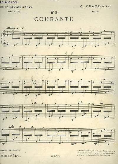 COURANTE - N°3 : DANSES ANCIENNES POUR PIANO.