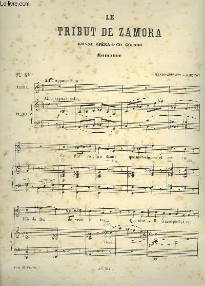 LE TRIBUT DE ZAMORA - N° 4 TER : PIANO ET CHANT MEZZO SOPRANO OU BARYTON.