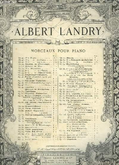 MORCEAUX POUR PIANO - OP.88 : PIERETTE - POUVANT SE JOUER A 2 PIANOS.