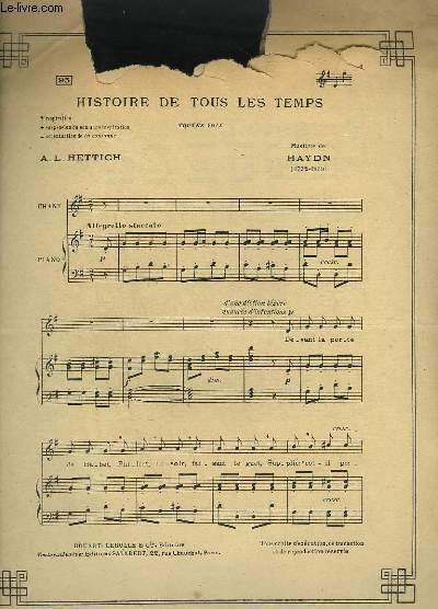 HISTOIRE DE TOUS LES TEMPS - PIANO ET CHANT.
