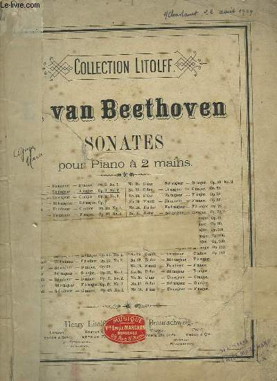 SONATES POUR PIANO A 2 MAINS - N°2.