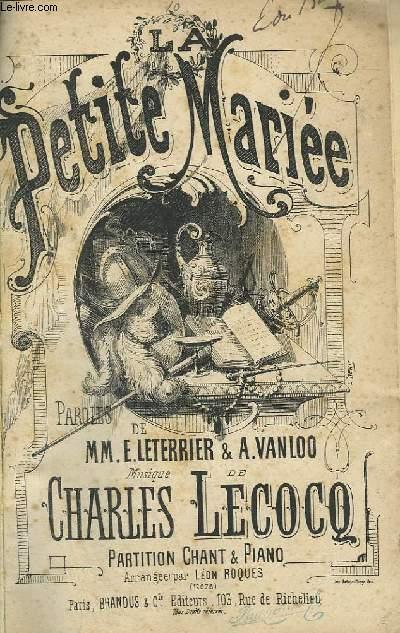 LA PETITE MARIEE - CHANT ET PIANO.
