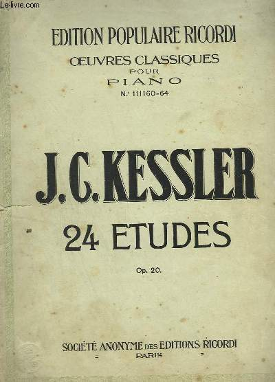 24 ETUDES - 4 CAHIERS EN 1 VOLUME COMPLET.