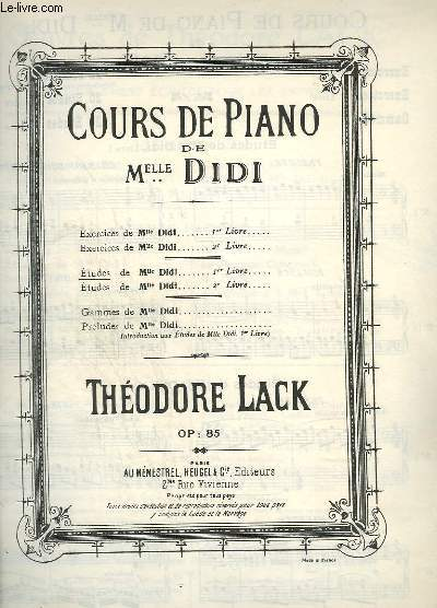 Chant d avril - pour piano - op.147. lack theodore Theodore Lack