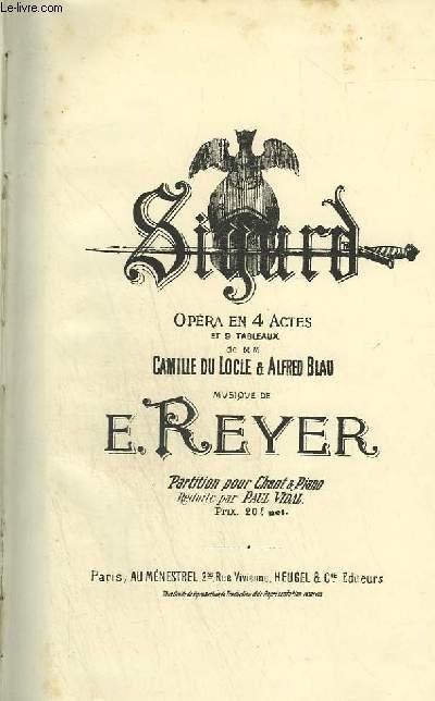 SIGURD - OPERA EN 4 ACTES ET 9 TABLEAUX - CHANT ET PIANO.