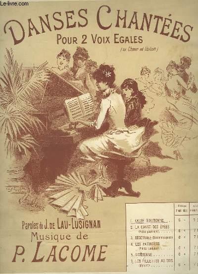 DANSES CHANTEES N°1 : VALSE D'AUTOMNE - POUR 2 VOIX EGALES + PIANO.