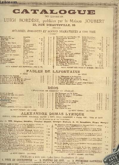 LES BRESILIENNES - DUETTO POUR PIANO ET CHANT.