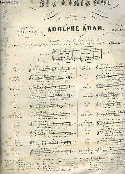 SI J'ETAIS ROI - N°1 POUR PIANO ET CHANT.