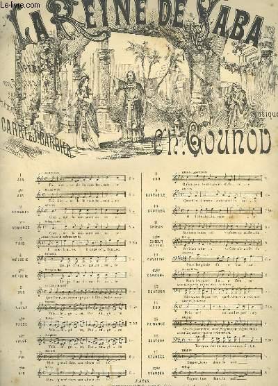 LA REINE DE SABA N°9 : CANTABILE POUR PIANO ET CHANT.