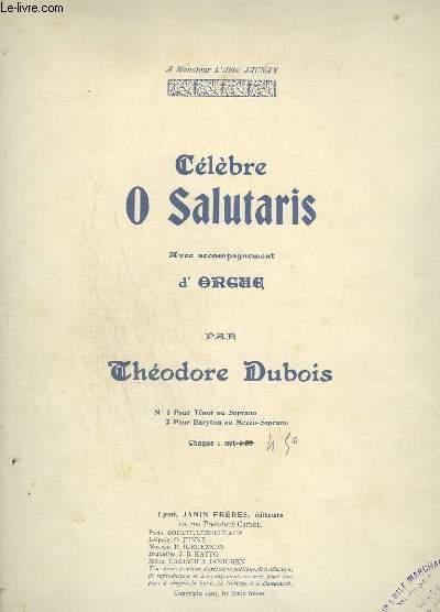 CELEBRE O SALUTARIS - ORGUE + CHANT POUR TENOR OU SOPRANO.