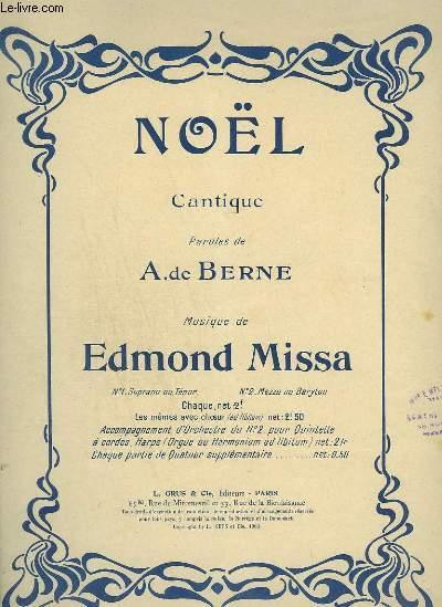 NOEL - CANTIQUE POUR MEZZO OU BARYTON + PIANO.