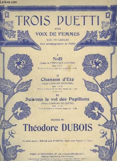 TROIS DUETTI POUR VOIX DE FEMMES + PIANO - N°1 : NOEL.