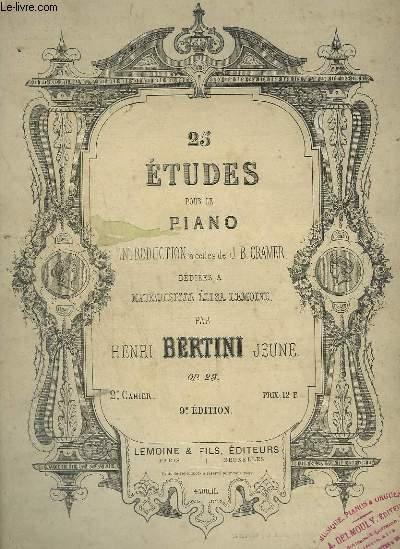 25 ETUDE POUR LE PIANO - 2° CAHIER.