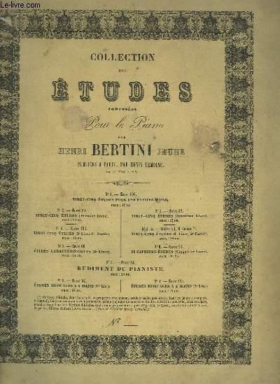 COLLECTION DES ETUDES COMPOSEES POUR LE PIANO - 1° LIVRE : 25 ETUDES OP.29.