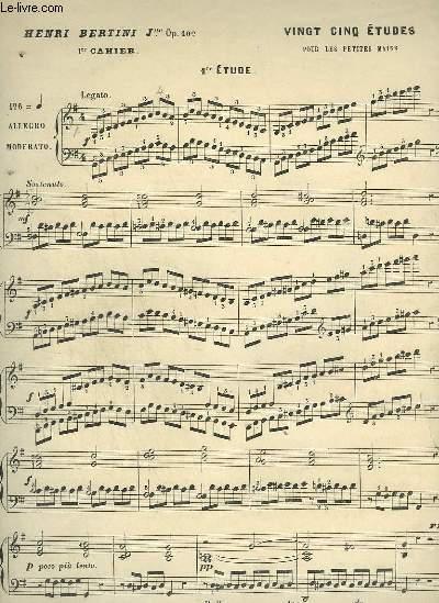25 ETUDE POUR LE PIANO - 1° CAHIER.