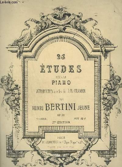 25 ETUDE POUR LE PIANO - 3° CAHIER - OP.32.