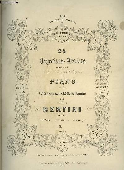 25 ETUDE POUR LE PIANO - 7° CAHIER - OP.94.