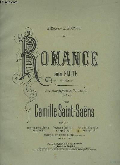 ROMANCE POUR FLUTE + VIOLON + PIANO.