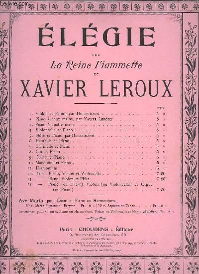 ELEGIE SUR LA REINE FIAMMETTE - N°5 : POUR FLUTE + CHANT ET PIANO.