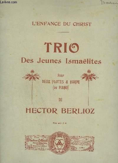 TRIO DES JEUNES ISMAELITES - POUR 2 FLUTES + PIANO OU HARPE.