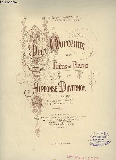 DEUX MORCEAUX POUR FLUTE ET PIANO - N°2 : INTERMEZZO.