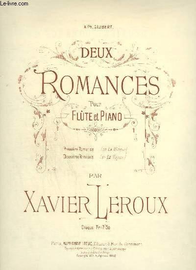 DEUX ROMANCES POUR FLUTE ET PIANO - N°2 : DEUXIEME ROMANCE.