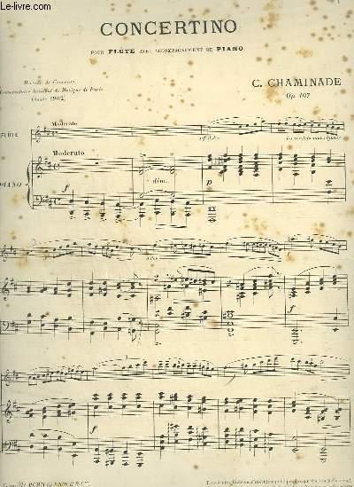CONCERTINO - POUR FLUTE AVEC ACCOMPAGNEMENT DE PIANO.