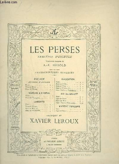 LES PERSES - LAMENTO POUR PIANO ET VIOLONCELLE.