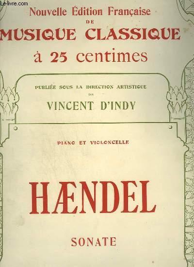 SONATE - CLAVECIN (PIANO) + VIOLE DE GAMBE VIOLONCELLE - NOUVELLE EDITION FRANCAISE DE MUSIQUE CLASSIQUE N°77.