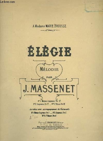 ELEGIE - PIANO + CHANT + VIOLONCELLE SOLO.