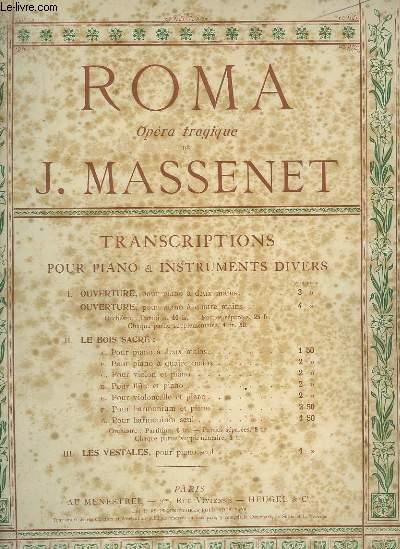 ROMA - OPERA TRAGIQUE POUR PIANO ET FLUTE.